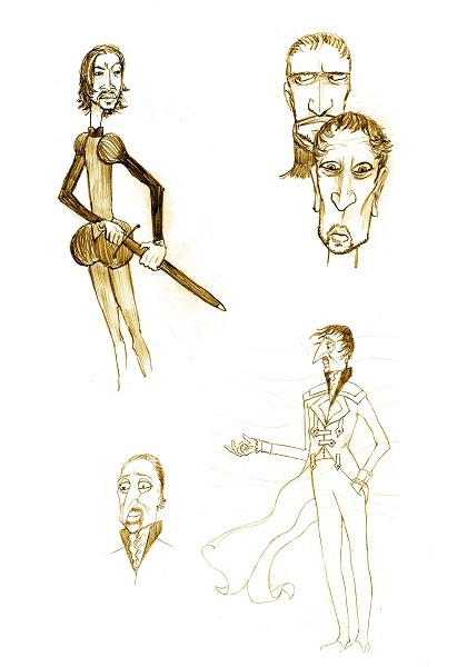 Duke of Night character designs