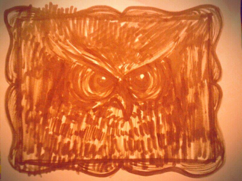 Scribble no. 16 : 27/2/13 — with Dirty Little Owl.