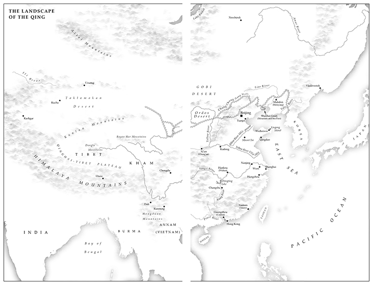 Map 2 - The Landscape of the Qing (small)