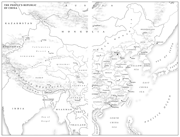 Map 5 - The People's Republic of China (small)