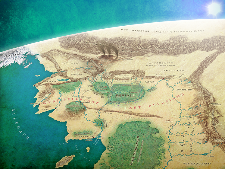 Beleriand and the North in the First Years of the Sun